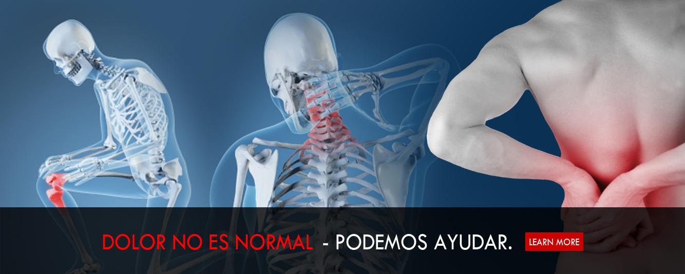 dolor no es normal